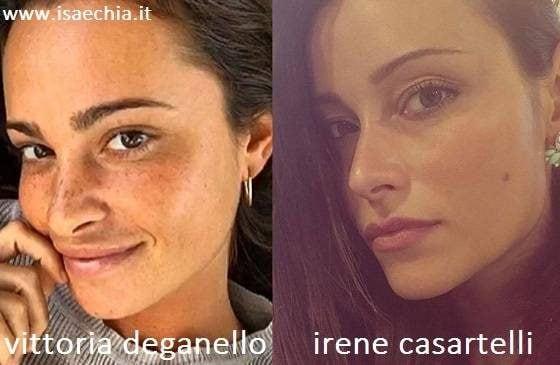Somiglianza tra Vittoria Deganello e Irene Casartelli