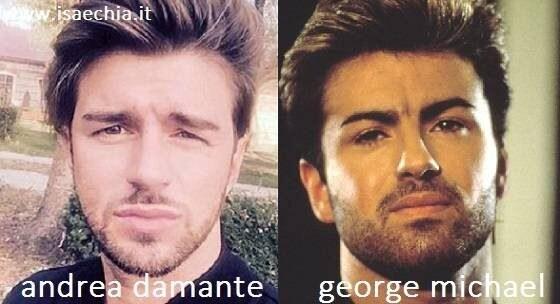 Somiglianza tra Andrea Damante e George Michael