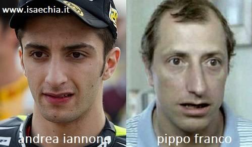 Somiglianza tra Andrea Iannone e Pippo Franco