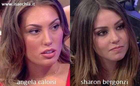 Somiglianza tra Angela Caloisi e Sharon Bergonzi