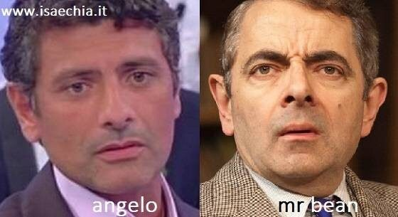 Somiglianza tra Angelo e Mr Bean