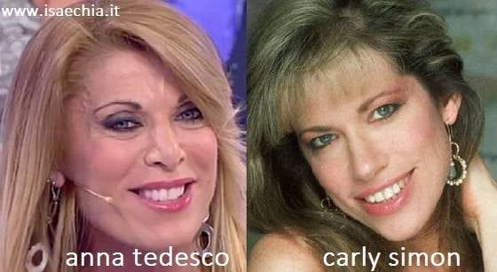 Somiglianza tra Anna Tedesco e Carly Simon