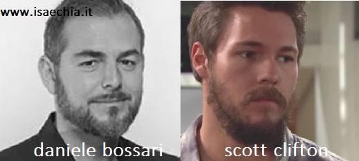 Somiglianza tra Daniele Bossari e Scott Clifton