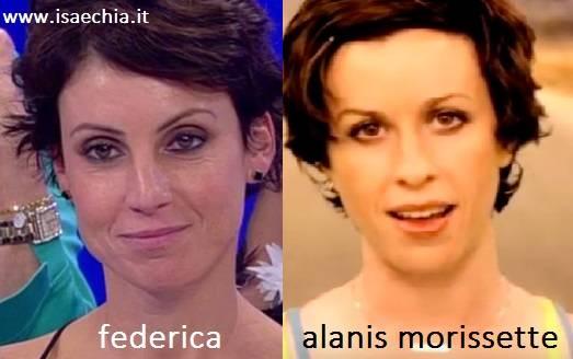 Somiglianza tra Federica e Alanis Morissette