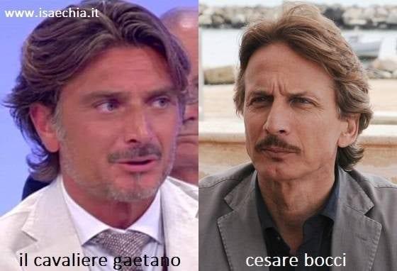 Somiglianza tra Gaetano e Cesare Bocci