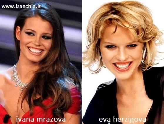 Somiglianza tra Ivana Mrazova e Eva Herzigova