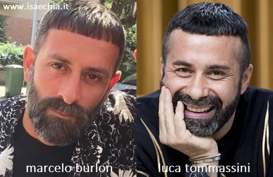 Somiglianza tra Marcelo Burlon e Luca Tommassini