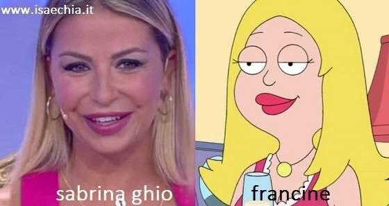 Somiglianza tra Sabrina Ghio e Francine