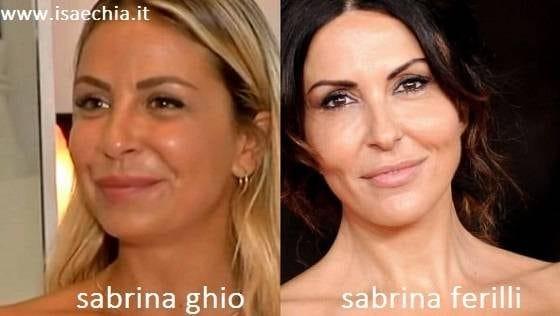 Somiglianza tra Sabrina Ghio e Sabrina Ferilli