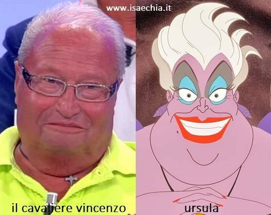 Somiglianza tra Vincenzo e Ursula de 'La Sirenetta'