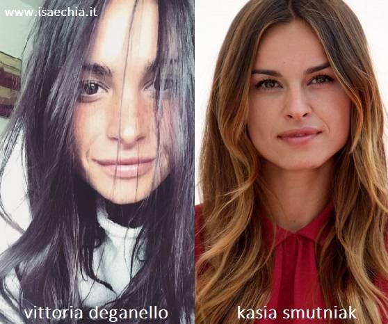 Somiglianza tra Vittoria Deganello e Kasia Smutniak