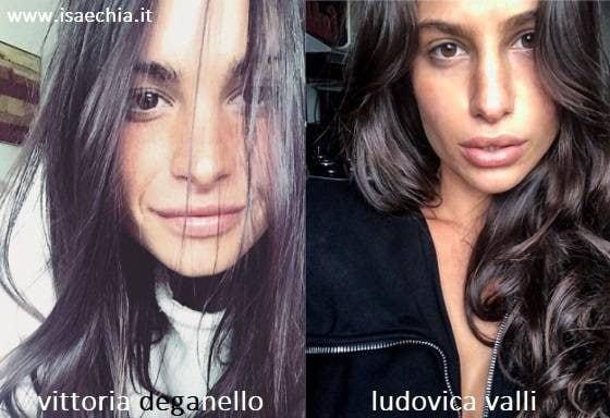 Somiglianza tra Vittoria Deganello e Ludovica Valli