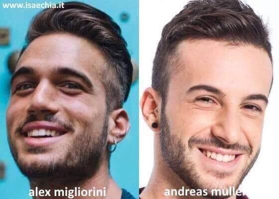 Somiglianza tra Alex Migliorini e Andreas Muller