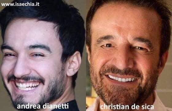 Somiglianza tra Andrea Dianetti e Christian De Sica