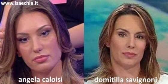 Somiglianza tra Angela Caloisi e Domitilla Savignoni