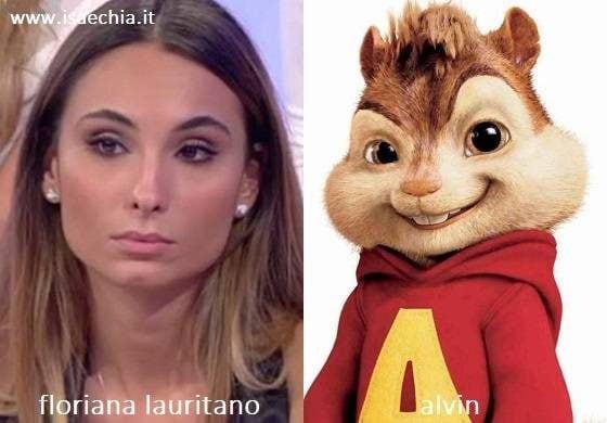 Somiglianza tra Floriana Lauritano e Alvin