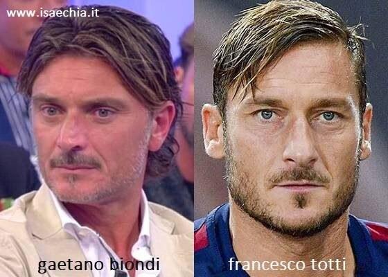 Somiglianza tra Gaetano Biondi e Francesco Totti