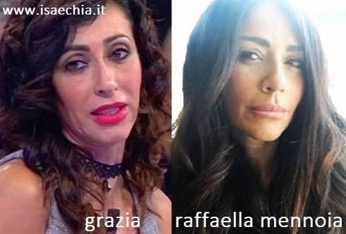 Somiglianza tra Grazia e Raffaella Mennoia