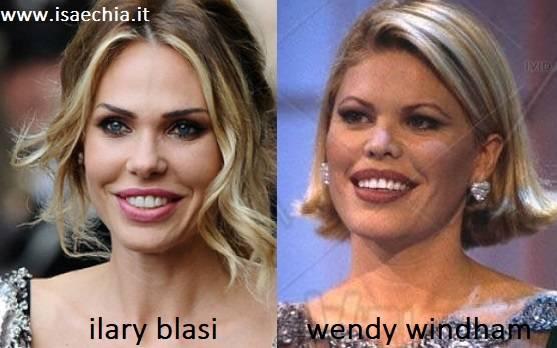 Somiglianza tra Ilary Blasi e Wendy Windham
