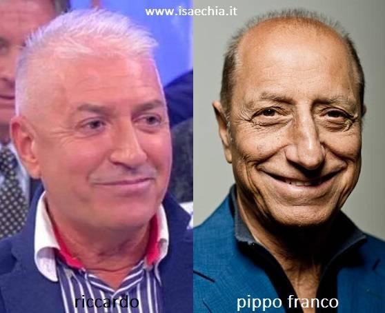 Somiglianza tra Riccardo e Pippo Franco