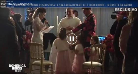 Domenica Live - Matrimonio Clemente Russo e Laura Maddaloni