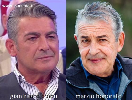 Somiglianza tra Gianfranco Crobu e Marzio Honorato