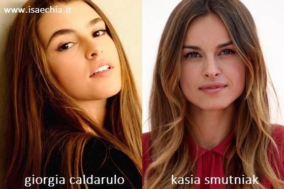 Somiglianza tra Giorgia Caldarulo e Kasia Smutniak