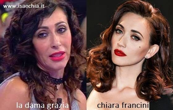 Somiglianza tra Grazia e Chiara Francini