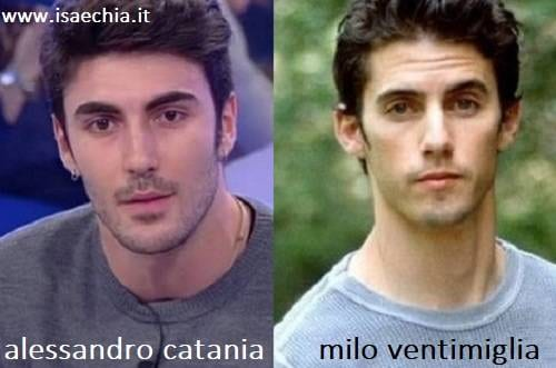 Somiglianza tra Alessandro Catania e Milo Ventimiglia