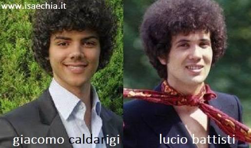 Somiglianza tra Giacomo Caldarigi e Lucio Battisti