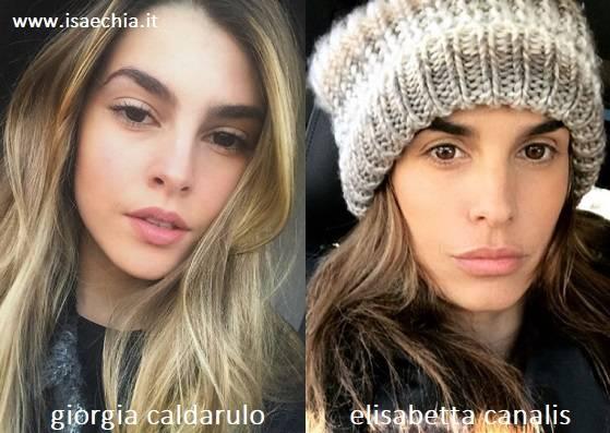 Somiglianza tra Giorgia Caldarulo ed Elisabetta Canalis