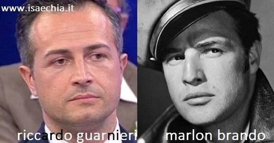 Somiglianza tra Riccardo Guarnieri e Marlon Brando