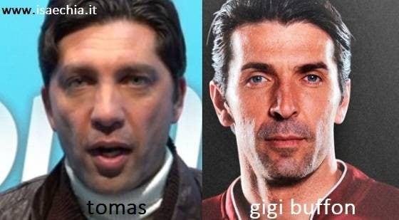 Somiglianza tra Tomas e Gianluigi Buffon