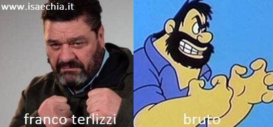 Somiglianza tra Franco Terlizzi e Bruto