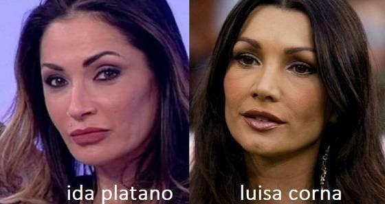 Somiglianza tra Ida Platano e Luisa Corna
