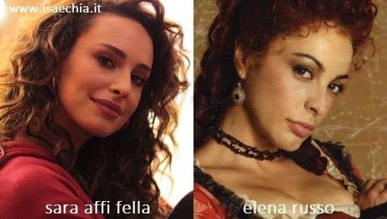 Somiglianza tra Sara Affi Fella e Elena Russo