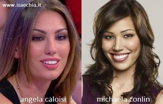 Somiglianza tra Angela Caloisi e Michaela Conlin
