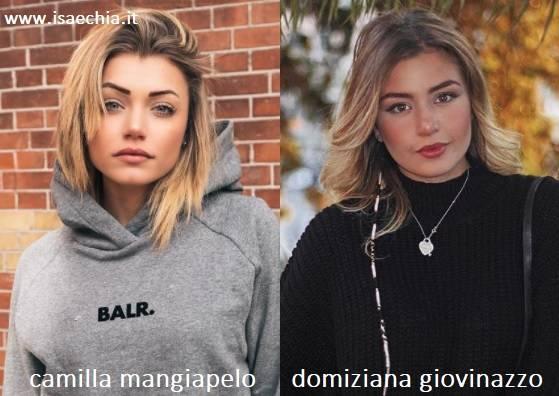 Somiglianza tra Camilla Mangiapelo e Domiziana Giovinazzo
