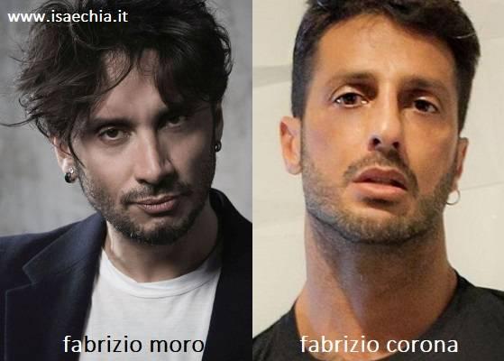 Somiglianza tra Fabrizio Moro e Fabrizio Corona