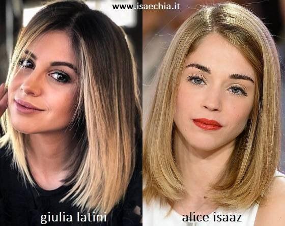 Somiglianza tra Giulia Latini e Alice Isaaz