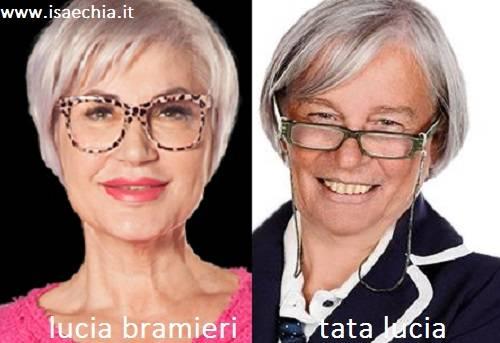 Somiglianza tra Lucia Bramieri e Tata Lucia