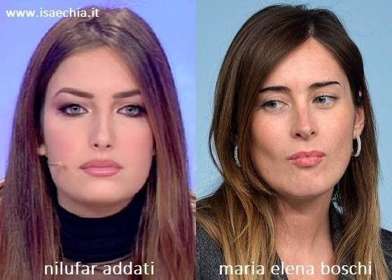 Somiglianza tra Nilufar Addati e Maria Elena Boschi