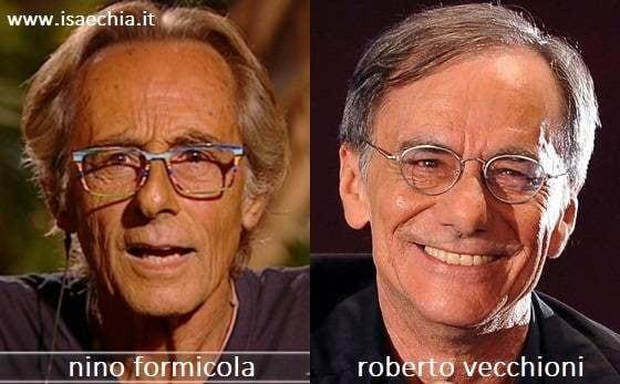 Somiglianza tra Nino Formicola e Roberto Vecchioni