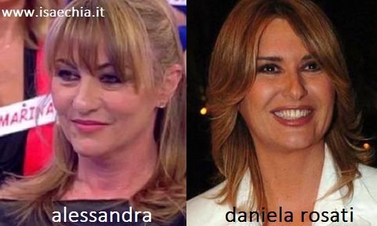 Somiglianza tra Alessandra e Daniela Rosati