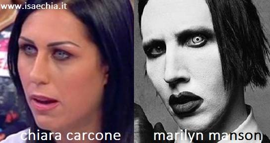 Somiglianza tra Chiara Carcone e Marilyn Manson