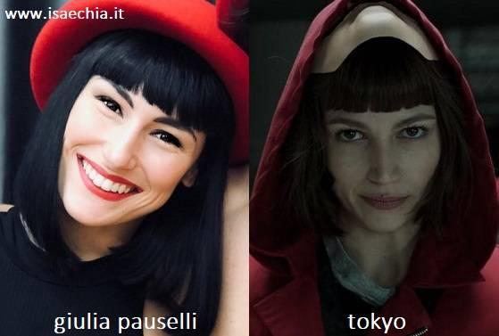 Somiglianza tra Giulia Pauselli e Tokyo de 'La Casa di Carta'