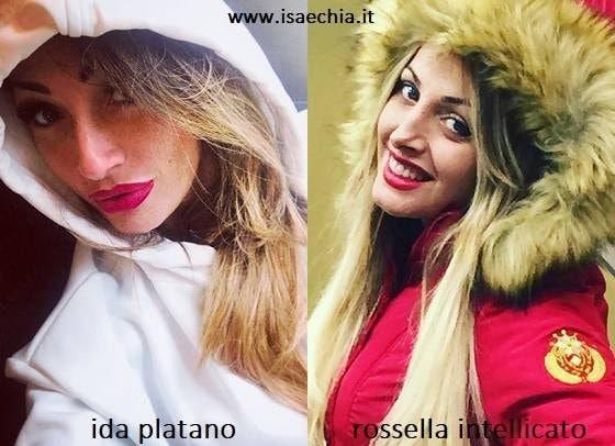 Somiglianza tra Ida Platano e Rossella Intellicato