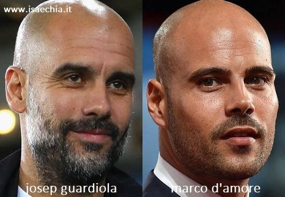 Somiglianza tra Josep Guardiola e Marco D'Amore