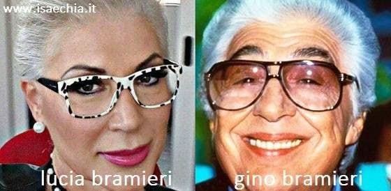 Somiglianza tra Lucia Bramieri e Gino Bramieri