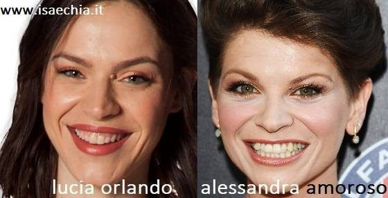 Somiglianza tra Lucia Orlando e Alessandra Amoroso